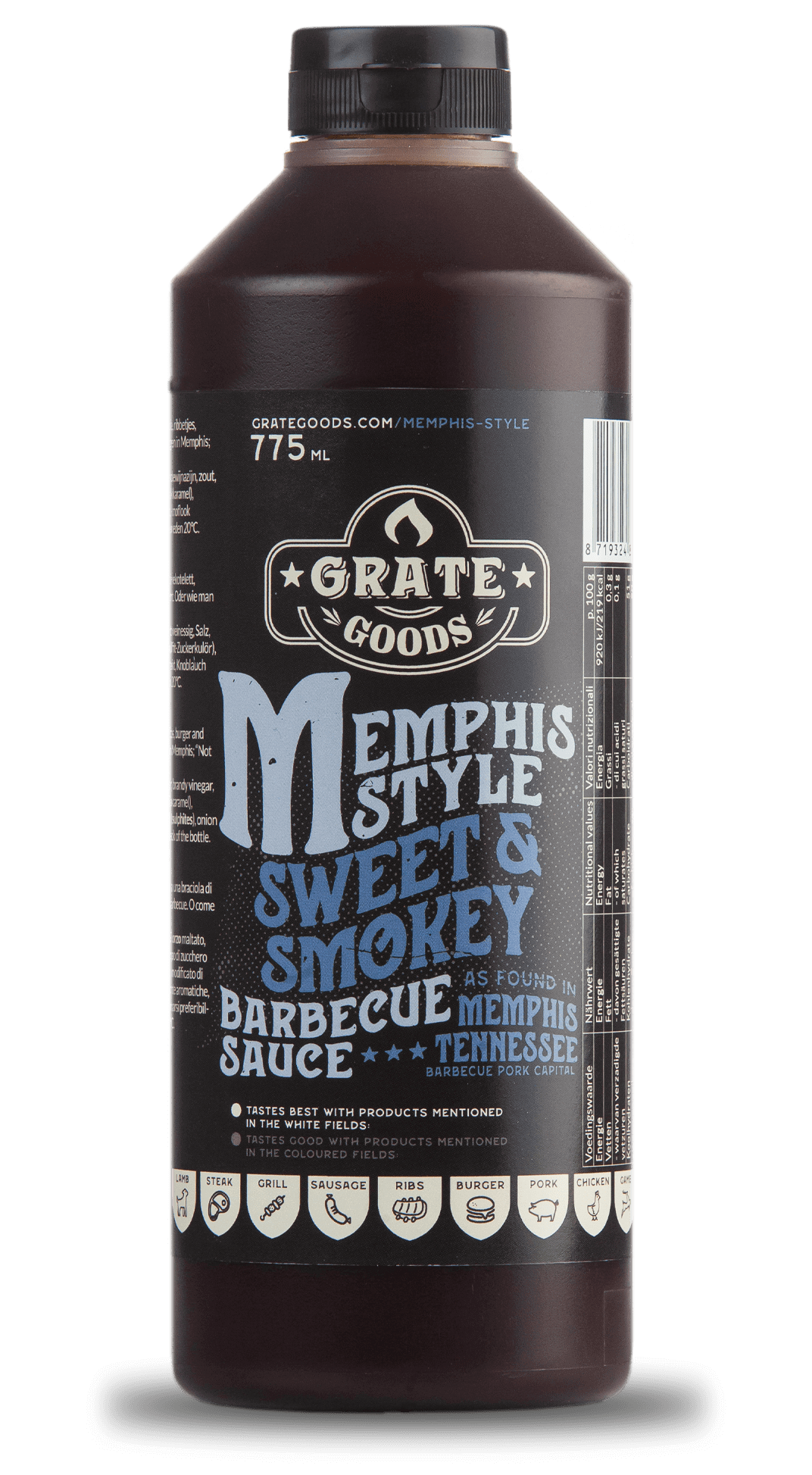 Memphis Style Sweet & Smokey barbecue sauce - bbq saus - Grate Goods
