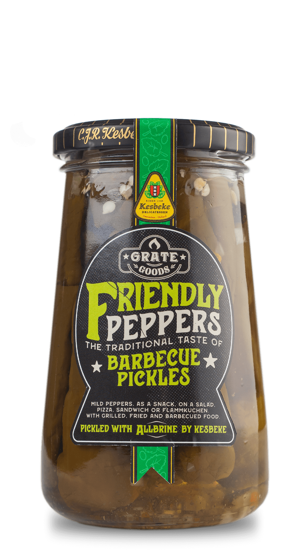 BBQ pickled peppers Grate Goods